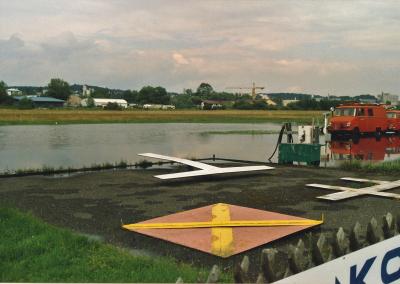 Hochwasser Flugplatz Westteil