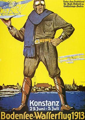 Plakat Bodensee-Wasserflug 1913