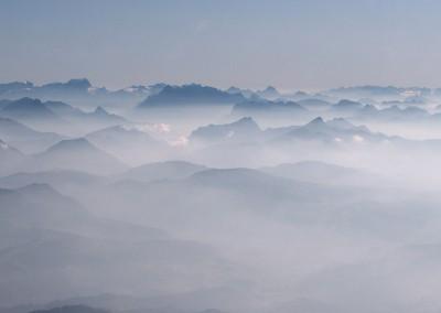 Alpenvorland im Dunst