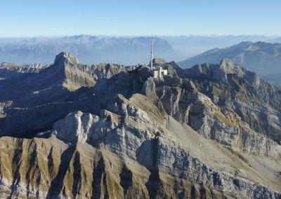 Säntis-Gipfelstation auf 2'502m