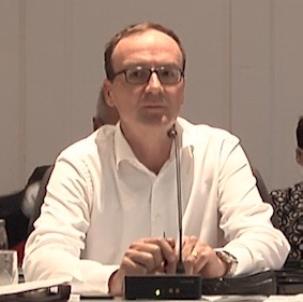 Oberbürgermeister Uli Burchardt während der Gemeinderatssitzung