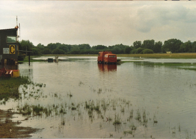 Hochwasser Blick nach Westen