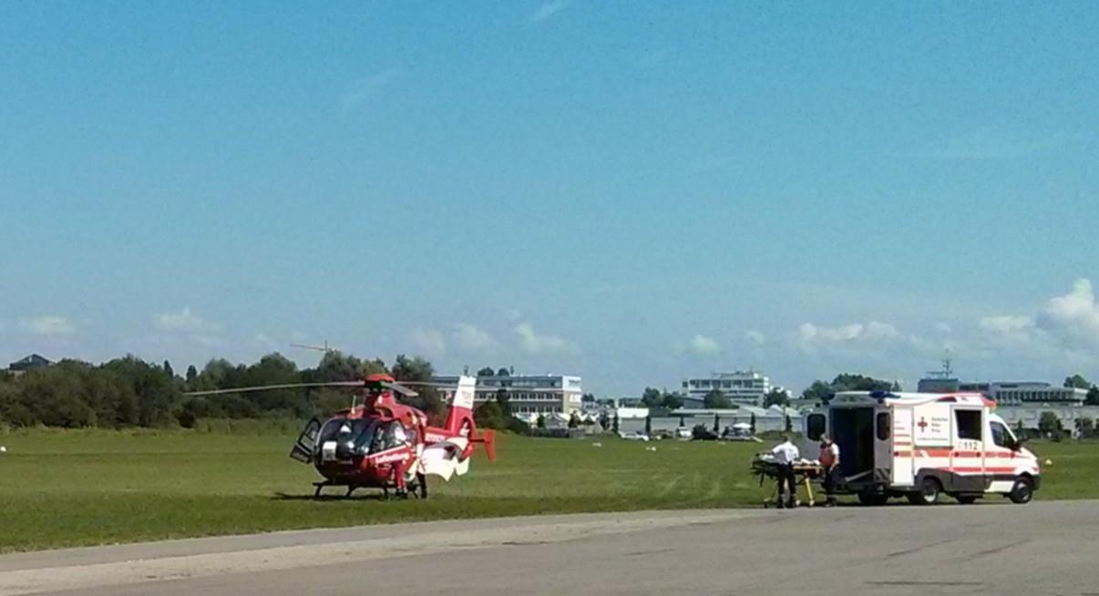 Rettunseinsatz mit DRK am Flugplatz Konstanz