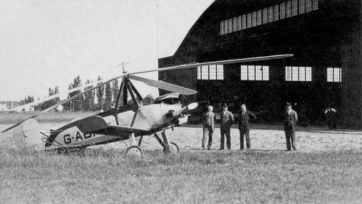 Rawsons Autogyro bei seiner ersten Landung in Konstanz
